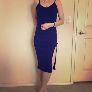 Nasty Gal Navy Blue Bodycone dress
